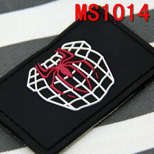 1PC Black Spider Patch Tactical Vintage Militaria PVC Rubber Morale Patches New