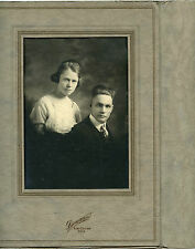Antique Photo in Folder-Fort Collins, Colorado-Young Couple, Man & Lady