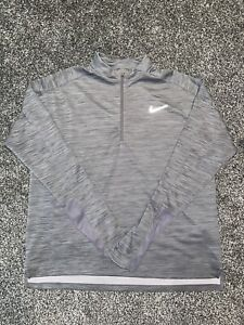 Nike Womens Dri-fit Long Sleeve Top - Grey - Large