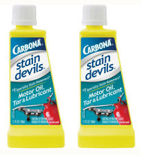 Carbona Stain Devils Specialty Motor Oil Tar Lubricant Remover (1.7 Oz) - 2 NEW