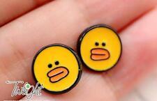 B.duck ducks  metal earring ear stud earrings 2PCS earring ne