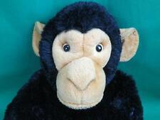 Big Black Brown Lifelike Sitting Aurora Chimpanzee Monkey Flesh And Made Toy
