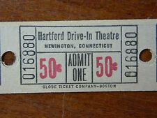 Circa 1965 Hartford Drive-In Movie Theater Lot of 20 Unused Tickets Newington