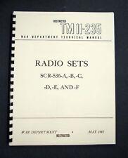 Radio Set SCR-536-A,B,C,D,E,F SCR536 BC-611 Manual