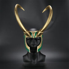 Movie Thor 3 Ragnarok Loki Laufeyson PVC Cosplay Costumes Mask Helmet Party Prop