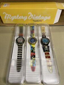 Vintage SWATCH Mystery 3 SCUBA Watch Set New in Box #SDZS06 Rare Pirate Watch*