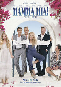 Mamma Mia Movie Poster Available in A2(420mmx297mm) & A1(594mm X 841mm)