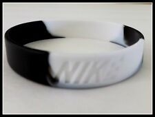 Nike Black White Elite Baller band rubber bracelet wristband tie dye RARE