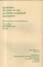 ALPINE GARDEN SOCIETY QUARTERLY BULLETIN  (September 1972) CRETE and THE BALKANS