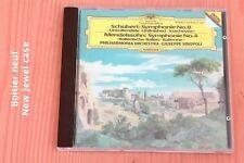 Schubert Symphonie 8 - Mendelssohn Symphonie 4 - Sinopoli -CD Deutsche Grammopho