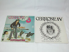 CERRONE 2 LP RECORD ALBUMS LOT COLLECTION 3 (1977)& IV GOLDEN TOUCH (1978) Disco