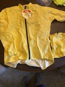 O2 Rainwear Cycling Rain Jacket | Yellow | L