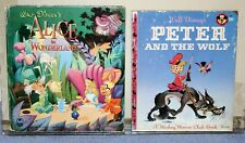 Lot of 2 Vintage Children's Books - Alice in Wonderland & Peter and The Wolf