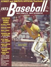 1973 Street & Smith's Baseball magazine, Reggie Jackson, Oakland A's VG