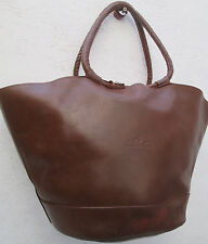 -AUTHENTIQUE sac shopping HENRY & MARTIN'S cuir (T)BEG vintage  bag