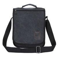 Men's Canvas Vintage Flap School Cross Messenger Shoulder Handbag Tote Bag Pack