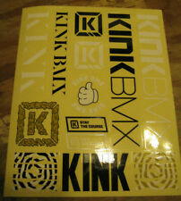 KINK BMX DECAL Kink BMX 3.25 in x 3.5 in White K Cycling Sticker