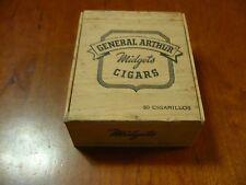 GENERAL ARTHUR CIGAR BOX MIDGETS 50 CIGARILLOS VINTAGE