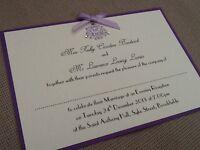 10 x Handmade Personalised Wedding Evening Invitations - vintage - many colours!