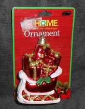 Rite Aid Home For The Holidays Red Santa Sleigh with Presents Ornament - New