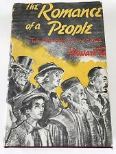 The Romance of a People The History of the Jews, 1941 Hebrew Publi, Howard Fast