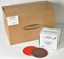 "300x SurfPrep 6""x 5mm PREMIUM RED A/O 280-380 Grit Finishing Abrasive Foam Discs"