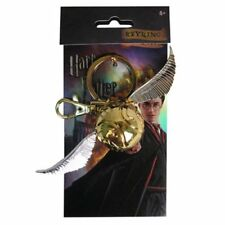 Harry Potter *Golden Snitch* Quidditch Pewter Key Chain Ring Hogwarts NEW + clip
