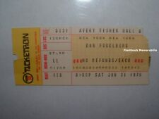DAN FOGELBERG 1976 Concert Ticket Stub LINCOLN CENTER NYC Rare AVERY FISHER HALL