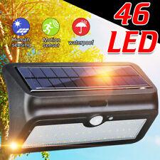 46 LED Solar Power Wall Light Motion Sensor Outdoor Garden Waterproof Lamp
