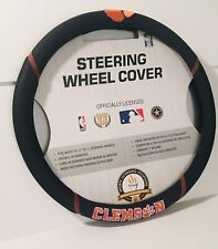 Clemson University Tigers FM Premium Embroidered Black Auto Steering Wheel Cover