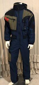 Obermeyer Thermolite SKI Bib Snowsuit Overalls Mens Snow Pants L Colorblock