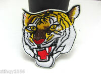 Hot Animal Sewing Iron On Appliques Embroidered Cloth Patch Tiger Design 10pcs