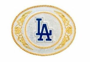 Los Angeles Dodgers Official Licensed Gold and Silver Toned MLB Logo Buckle