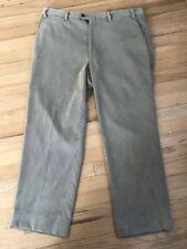 Canali Mens Light Beige Corduroy FLAT FRONT  Pants Sz  36 X 28