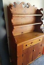 Small, Handmade, Primitive Pine Hutch, Step Back, c. 1820, 2 Pieces