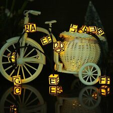 LOT of 2 Fairy String SOLAR Garden Lights 31ft 40 LED 8 Modes Letters Blocks ABC