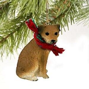 Border Terrier Christmas Tree Figurine Decoration/Ornament Dog Present/Gift