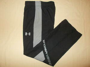 UNDER ARMOUR BLACK MESHED LINED ATHLETIC PANTS BOYS MEDIUM EXCELLENT CONDITION