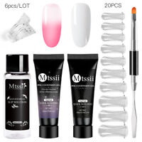 MTSSII 20ml Poly UV Acrylic Nail Gel Quick Building Extension Builder Tool Set