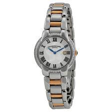 Raymond Weil Jasmine Steel and Rose Gold PVD Diamond Ladies Watch 5229-S5S-01659