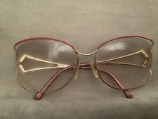 Vintage Tura 143 Ladies Glasses Red And Gold Frames