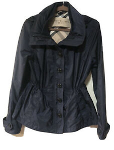 Burberry Brit Womens Light Weight Rain Jacket, Hood.
