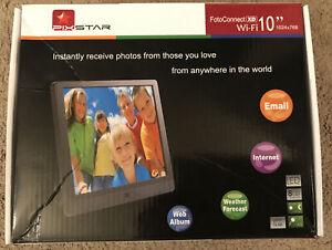 "Pixstar FotoConnect XD Wi-Fi Digital Photo Frame 10"" 1024x768 8GB Black Weather"