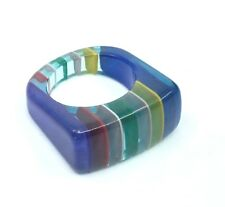 Layered Lucite Rainbow RIng Size 6.5