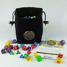 Third Die Dice Bags Reversible, Free Standing Closes Tight - Celtic Dragon Brown
