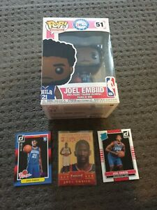 3 x 2014-15 Joel Embiid rookie NBA basketball cards+ 1st Pop Vinyl. WOW. INVEST