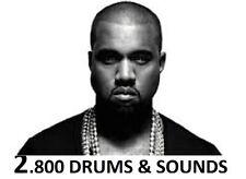 Kanye West 2,800 Drum Sound Kit Hip Hop Drum Samples Mpc Logic Maschine Fl RaP