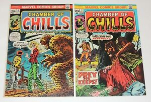 Marvel Comics CHAMBER of CHILLS #6 & #7   Both Super High Grade VF/NM