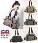 Large Women Ladies Canvas Tote Bag Shoulder Handbag Messenger Crossover