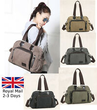 Large Women Ladies Canvas Tote Bag Shoulder Handbag Messenger Crossover